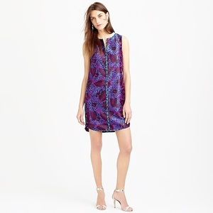 J Crew Shift Dress Midnight Floral Jacquard